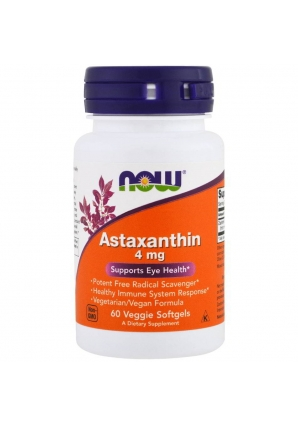 Astaxanthin 4 мг 60 капс (NOW)