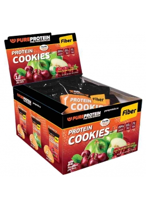 Protein Cookies Fiber 12 шт 80 гр (Pure Protein)