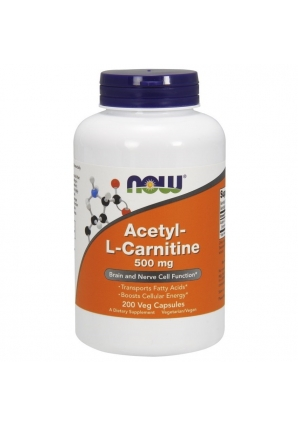 Acetyl-L-Carnitine 500 мг 200 капс (NOW)
