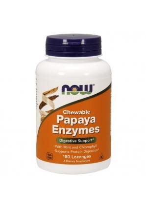 Papaya Enzyme 180 жев.табл. (NOW)