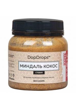 Протеиновая паста Миндаль Кокос, стевия 250 гр (DopDrops)