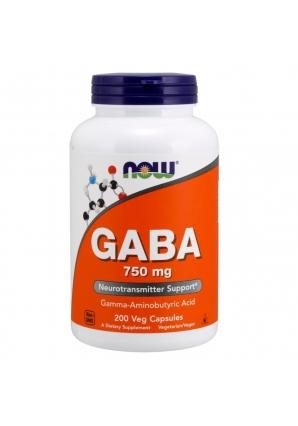 GABA 750 мг 200 капс (NOW)