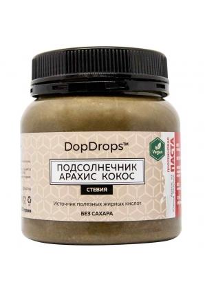 Протеиновая паста Подсолнечник Арахис Кокос, стевия 250 гр (DopDrops)