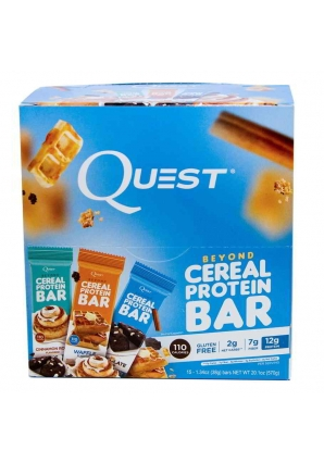 "Beyond Cereal Protein Bar ""3 вкуса"" 15 шт 38 гр (Quest Nutrition)"