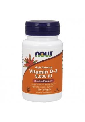 Vitamin D3 5000 UI 120 капс (NOW)