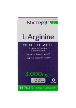 L-Arginine 3000 мг 90 табл (Natrol)