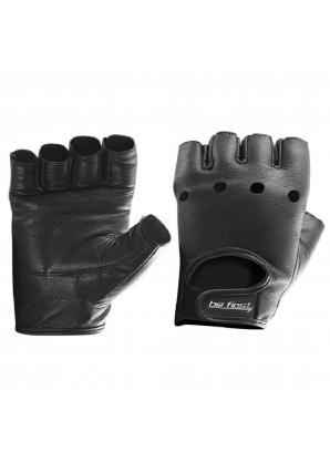 Перчатки кожа черные (Be First)
