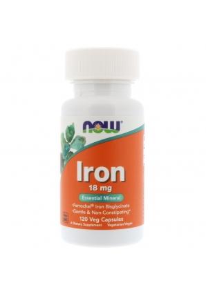 Iron 18 мг 120 капс. (NOW)