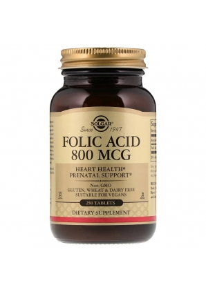 Folic Acid 800 мкг 250 табл (Solgar)