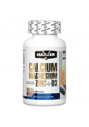 Calcium Zinc Magnesium + D3 90 табл (Maxler)