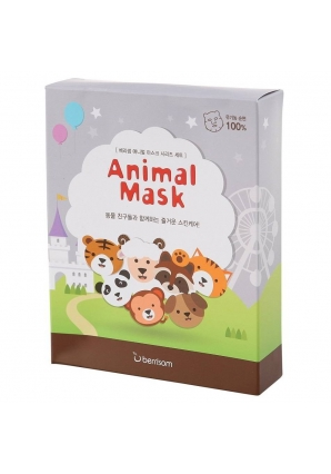 Маска тканевая набор Animal Mask series 7 шт 25 мл (Berrisom)
