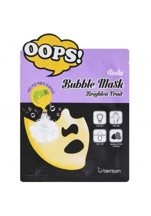 Маска-пилинг для сияния кожи Oops Soda Bubble Mask Brighten Fruit 18 мл (Berrisom)