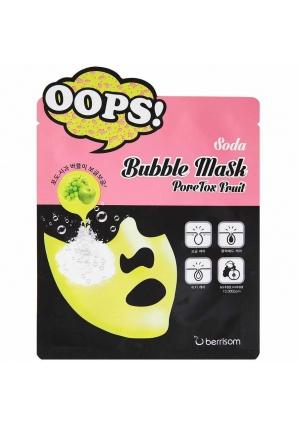 Маска-пилинг для очищения пор Oops Soda Bubble Mask PoreTox Fruit 18 мл (Berrisom)