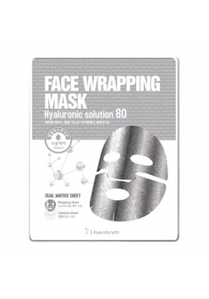 Маска для лица с гиалуроновой кислотой Face Wrapping Mask Hyaluronic Solution 80 - 27 мл (Berrisom)