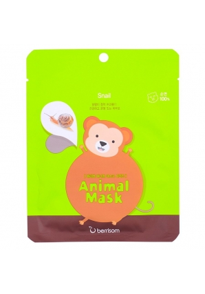 Маска тканевая с муцином улитки Animal mask series - Monkey 25 мл (Berrisom)