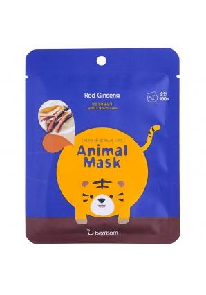 Маска тканевая с экстрактом женьшеня Animal mask series - Tiger 25 мл (Berrisom)