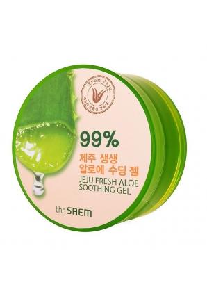 Гель с алоэ универсальный увлажняющий Jeju Fresh Aloe Soothing Gel 99% 300 мл (The Saem)