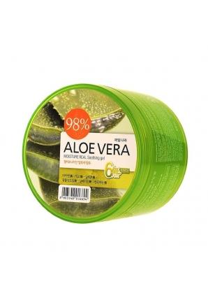 Гель для тела успокаивающий Aloe vera Moisture Real Soothing Gel 300 мл (Welcos)
