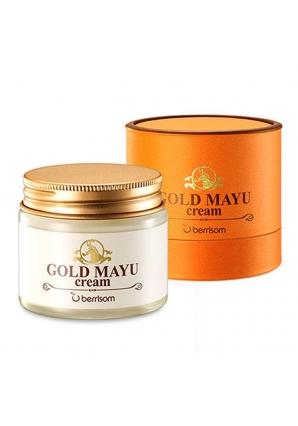 Крем для лица с лошадиным жиром Gold Mayu Cream 70 мл (Berrisom)