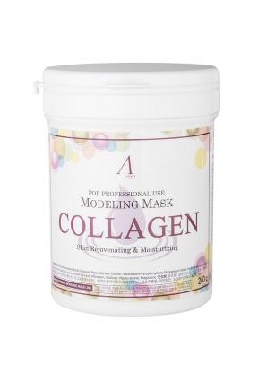 Маска альгинатная с коллагеном укрепляющая Collagen Modeling Mask 240 гр - банка (Anskin)