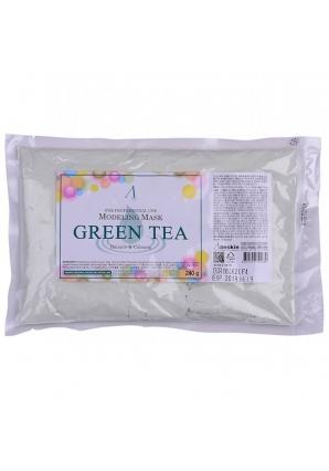 Маска альгинатная с экстрактом зеленого чая успокаивающая Green Tea Modeling 240 гр (Anskin)