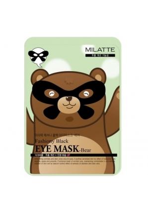 Маска для кожи вокруг глаз Fashiony Black Eye Mask Bear 10 гр (Milatte)