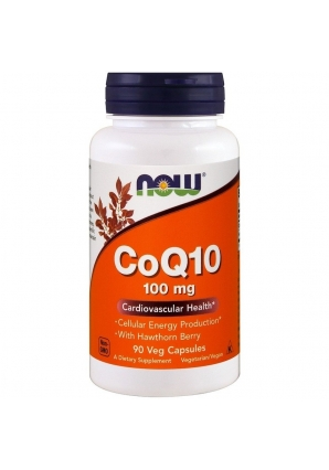CoQ10 с боярышником 100 мг 90 раст капс (NOW)