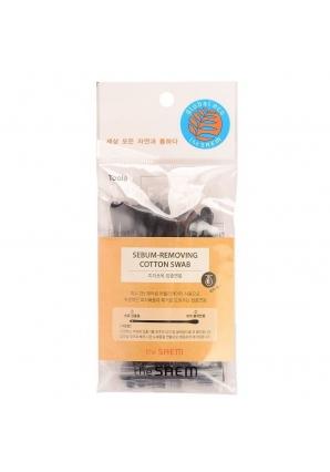 Ватные палочки для очистки пор Sebum-Removing Cotton Swab 40 шт (The Saem)