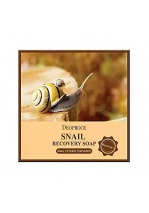 Мыло с улиточным муцином Snail Recovery Soap 100 гр (Deoproce)