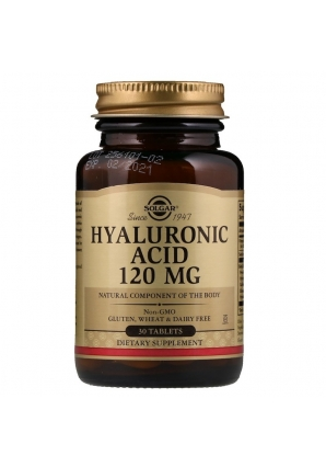 Hyaluronic Acid 120 мг 30 табл (Solgar)