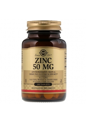 Zinc 50 мг 100 табл (Solgar)