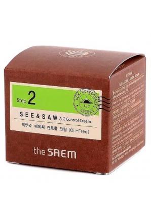Крем для проблемной кожи SEE & SAW AC Control Cream 60 мл (The Saem)