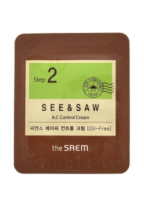 Крем для проблемной кожи SEE & SAW AC Control Cream 1 мл (The Saem)