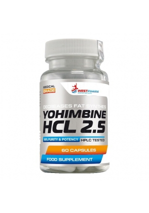 Yohimbine HCL 2.5 60 капс (WestPharm)