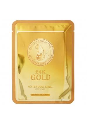 Улиточная маска для лица 24K Gold Water Dual Snail 25 гр (Elizavecca)