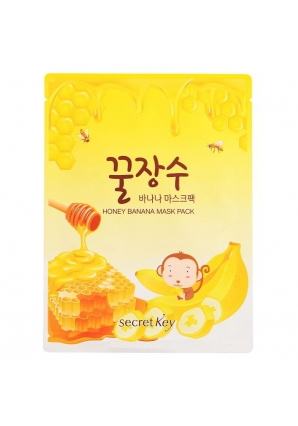 Тканевая маска с экстрактом банана и меда Honey Banana Mask Pack 25 гр (Secret Key)