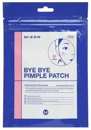 Чудо-пластырь для лечения угрей и воспалений Bye Bye Pimple Patch 24 шт (Mizon)