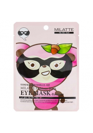 Маска для кожи вокруг глаз Fashiony Black Eye Mask Raccoon 10 гр (Milatte)