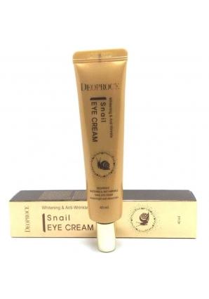 Крем для век антивозрастной с экстрактом улитки Whitening & Anti-Wrinkle Snail Eye Cream 40 мл (Deoproce)