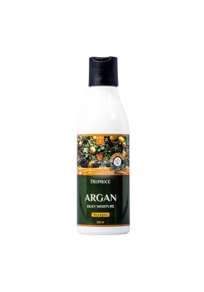 Шампунь для волос с аргановым маслом Argan Silky Moisture Shampoo 200 мл (Deoproce)