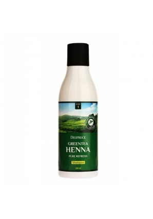 Шампунь для волос с зеленым чаем и хной Greentea Henna Pure Refresh Shampoo 200 мл (Deoproce)