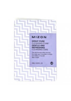 Пенка для умывания Great Pure Cleansing Foam 3 мл (Mizon)