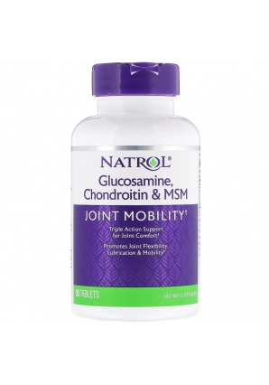 Glucosamine, Chondroitin & MSM 90 табл (Natrol)