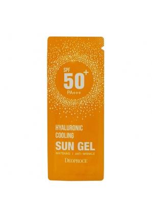 Cолнцезащитный гель Hyaluronic Cooling Sun Gel Spf50++ (Deoproce)