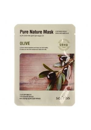 Маска для лица тканевая Secriss Pure Nature Mask Pack 25 мл (Anskin)