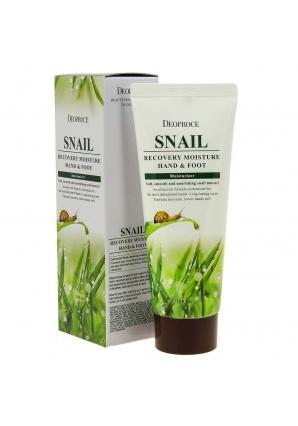 Крем для рук и ног с муцином улитки Snail Recovery Moisture Hand & Foot 100 мл (Deoproce)