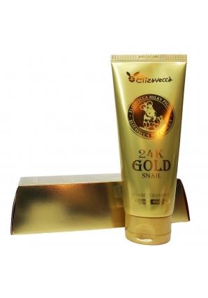 Пенка для умывания с золотом и муцином улитки 24K Gold Snail Cleansing Foam 180 мл (Elizavecca)
