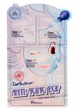 Маска для лица антивозрастная 3-Step Anti-Aging EGF Aqua Mask Sheet 25 мл (Elizavecca)