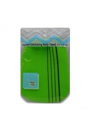 Мочалка-варежка для душа Viscose Exfoliating Body Towel 1 шт 12 х 17 см (Sungbo Cleamy)