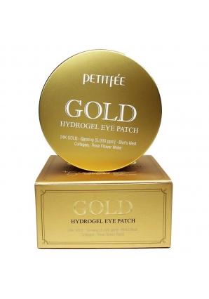 Гидрогелевые патчи для глаз с золотом Gold Hydrogel Eye Patch 60 шт (Petitfee)